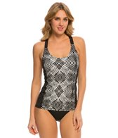Beach House Lime Rock Geo Engage Crossback Tankini Top