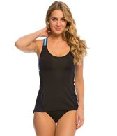 Beach House Mesh Blocked Engage Crossback Tankini Top