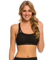 Beach House Sport Solid Endurance Layered Racerback Sports Bra Top