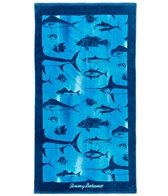 Tommy Bahama Mens' Watercolor Fish Towel