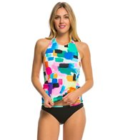 Anne Cole Women's Snow Cone High Neck Halter Tankini Top