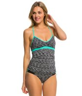 Anne Cole Women's Heather Colorblock Elastic Tankini Top