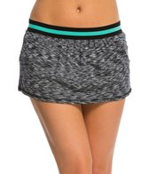 Anne Cole Women's Heather Colorblock Elastic Swimskirt