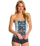 Anne Cole Women's Spinning Floral Bandeaukini Top