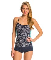 Anne Cole Women's Spinning Floral Tankini Top