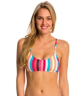 Anne Cole Women's Running Stripe Crossback Sports Bra Bikini Top