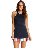 Anne Cole Women's Running Stripe Cover Up Dress