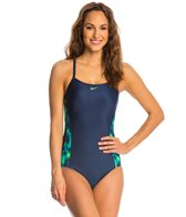 Nike Blurred Lines Crossback Tank One Piece Swimsuit
