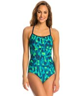 Nike Blurred Lines Lingerie Tank One Piece Swimsuit
