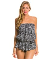 Maxine Desert Bloom Peplum Tankini Top