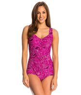 Maxine Casa Blanca Shirred Front Girl Leg One Piece Swimsuit