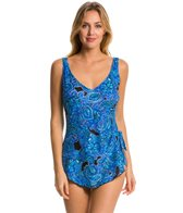 Maxine Casa Blanca Wide Strap Sarong One Piece Swimsuit