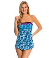 Maxine Diamond Kisses Bandeau Sarong One Piece Swimsuit