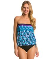 Maxine Diamond Kisses Bandeau Blouson Tankini Top