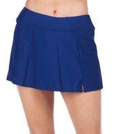 Maxine Solid Wide Waist Band Swim Skirt