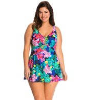 Maxine Plus Size Lanikai Empire Swimdress