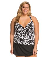 Anne Cole Plus Size Antiqua Underwire X-Back Tankini Top