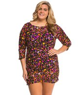 Anne Cole Plus Size Rosebud Mesh Cover Up Tunic