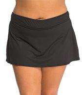 Anne Cole Plus Size Color Blast Solid Swim Skirt