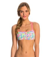 Funkita Women's Sea Queens Criss Cross Sports Swim Top