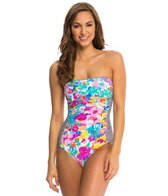 Anne Cole This Bud's For You Bandeau One Piece Swimsuit