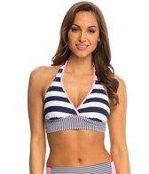 Anne Cole Rugby Stripe Halter Bikini Top