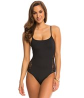 Anne Cole Color Blast Lace Crochet One Piece Swimsuit