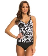 Anne Cole Antiqua Twist Front Underwire Tankini Top