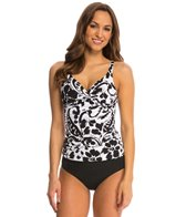 Anne Cole Antiqua Twist Front Underwire Tankini Top (D Cup)