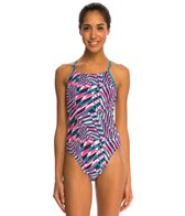 Nike Clash Cut Out Tank One Piece Swimsuit