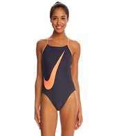 Nike Big Swoosh Cut Out Tank One Piece Swimsuit
