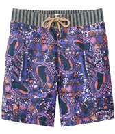 Maaji Mens' Boysenberry Traces Long Swim Trunk