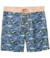 Maaji Mens' Sharpy Sharks Long Swim Trunk