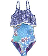 Maaji Girls' Garden Scrapbook Ruffle One Piece Swimsuit (2yrs-16yrs)
