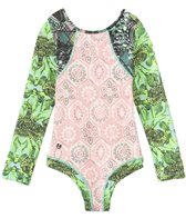 Maaji Girls' Lullaby Road Long Sleeve Rashguard One Piece (2yrs-16yrs)