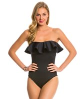 Magicsuit by Miraclesuit Scuba Bandeau Ruffle One Piece Swimsuit