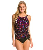 Magicsuit by Miraclesuit Kaleidoscope Jodie High Neck Blouson Tankini Top