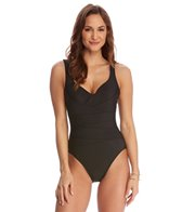 Magicsuit by Miraclesuit Solid Zoe Surplice One Piece Swimsuit