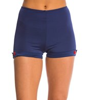 Girlhowdy Dale Button High Waist Swim Shorts