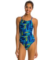 Speedo Angles Free Back One Piece Swimsuit