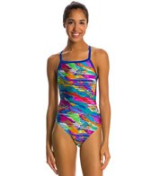 Speedo Cut Cloud Drill Back One Piece Swimsuit
