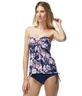 Beach House Pink Natucket A-Line Bandeau Tankini Top