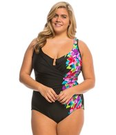 Miraclesuit Plus Size Brite Side Escape One Piece Swimsuit