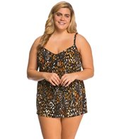 Miraclesuit Plus Size Cat's Meow Bristol Tankini Top