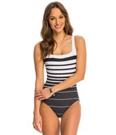 Miraclesuit Right Down the Line Square Neck One Piece Swimsuit