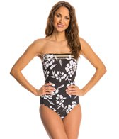 Miraclesuit Awesome Blossom Avanti Underwire Bandeau One Piece Swimsuit