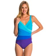Miraclesuit Spectra Band-It Surplice One Piece Swimsuit