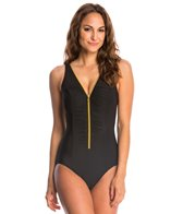 Miraclesuit Suit Yourself Blitz Zip Up One Piece Swimsuit (DD Cup)