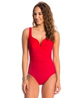 Miraclesuit Solid Conundrum Surplice One Piece Swimsuit