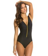 Miraclesuit Suit Yourself Blitz Zip Up One Piece Swimsuit